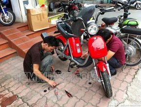 Sửa chữa xe máy điện bị chập
