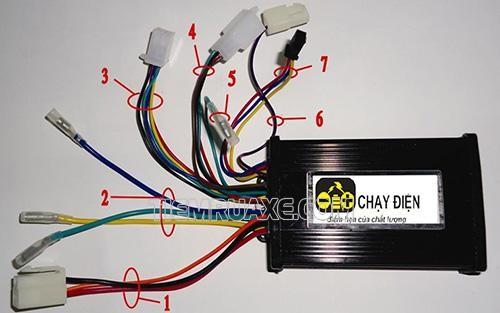 hệ thống dây của xe đạp điện