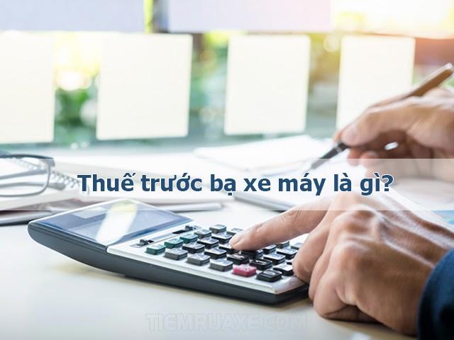 thuế trước bạ xe máy là gì