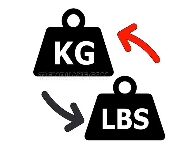 đổi lbs sang kg