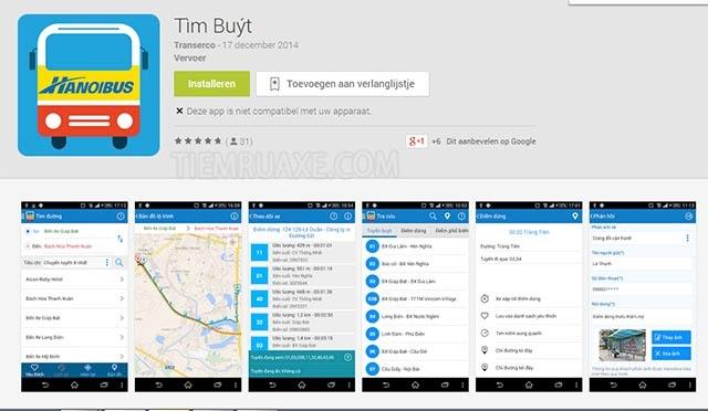 cách đi xe buýt tại Hà Nội sử dụng app