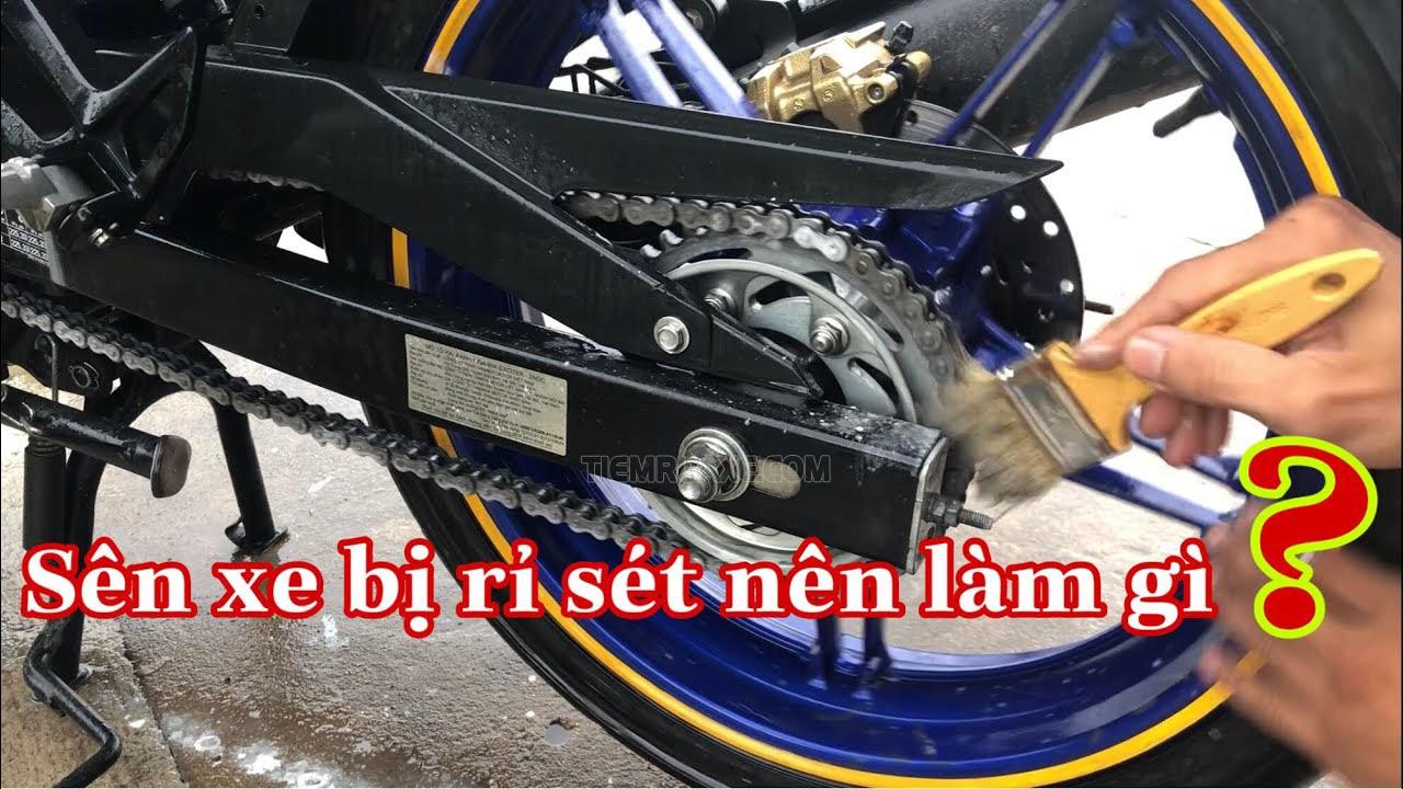 Vệ sinh sên xe máy khi bị rỉ sét