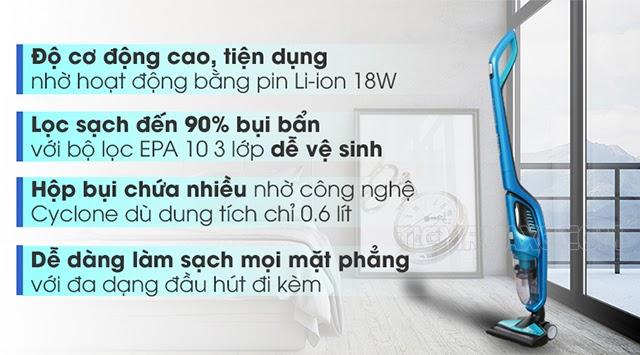 Tính năng hữu ích của máy hút bụi Philips FC6404