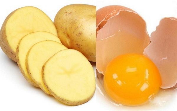 vệ sinh giày da bằng khoai tây
