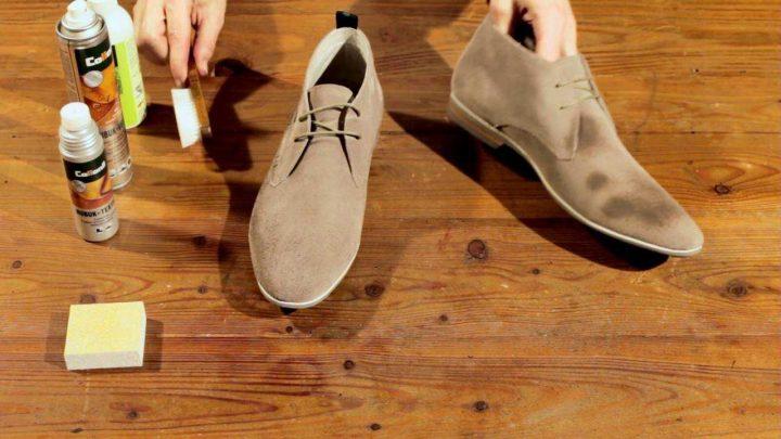 cách xử lý giày da lộn bị mốc