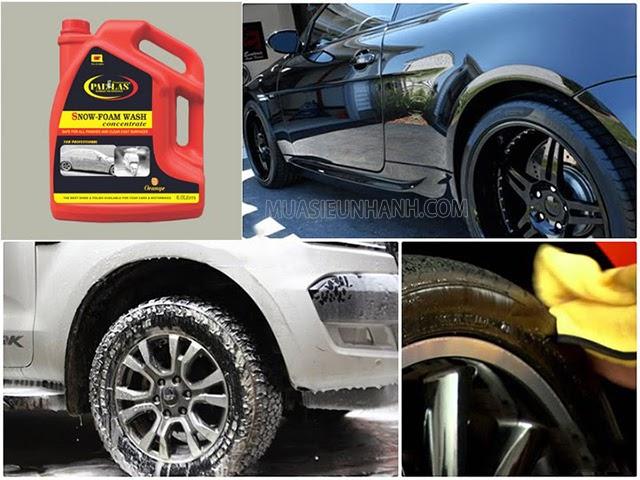 Nước rửa xe Pallas cho hiệu quả rửa xe vượt trội