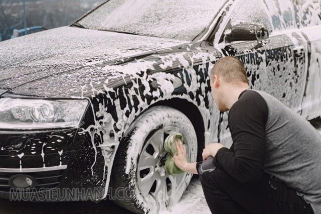 xà bông rửa xe