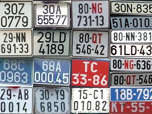 biển số xe các tỉnh thành